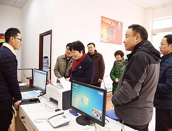 """王兵深入花洲、张村调研指导""""四化双评""""和精准扶贫工作"""