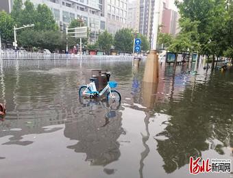 河北石家庄突遭强降雨袭击