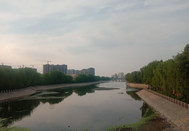 正在改建中的水上公园