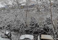 窗外的雪花美景
