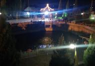 南梁滦池夜景